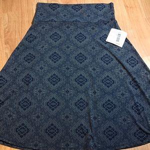 Medium Azure A-line Skirt Stretchy Slinky Material